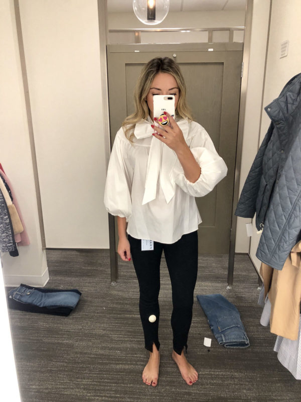 Nordstrom Anniversary Sale Finds Bow Blouse Black Jeans