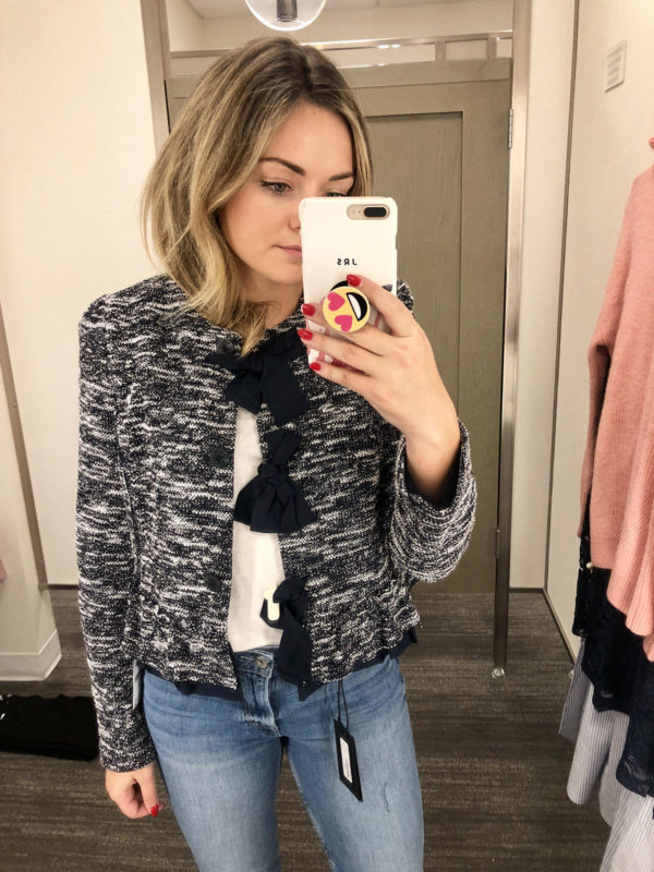 Nordstrom Anniversary Sale Halogen Boucle Jacket with Bows
