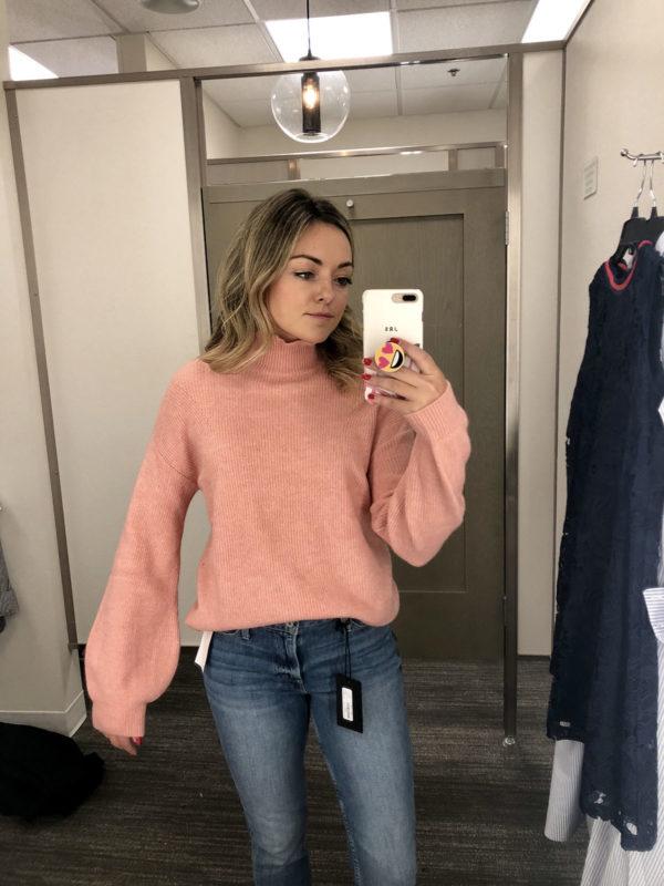 Nordstrom Anniversary Sale Best Sweaters Pink Halogen Turtleneck