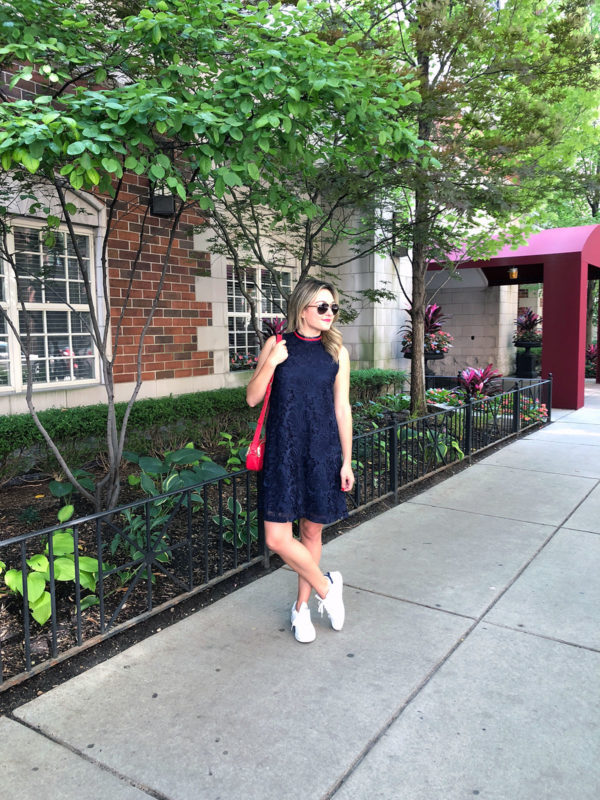 Nordstrom Anniversary Sale Favorite Dress with Sneakers