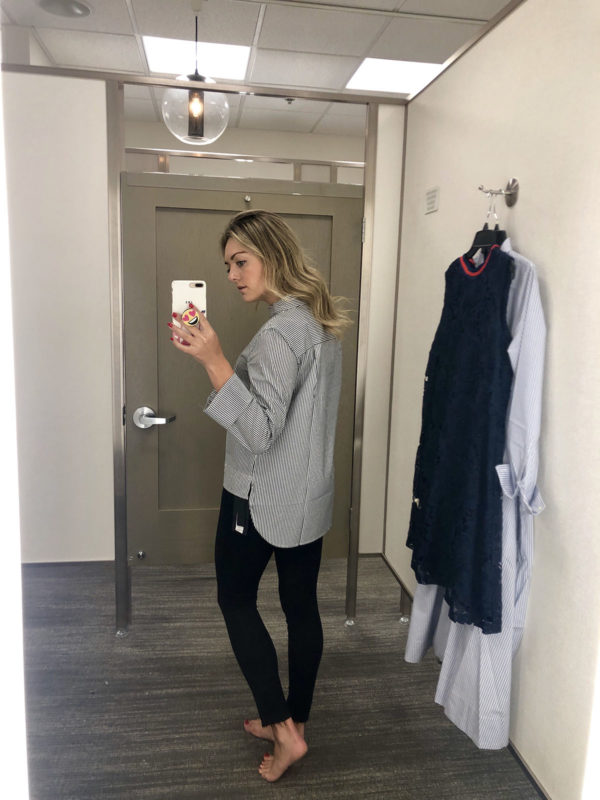Nordstrom Fitting Room Try On J.Crew Striped Shirt