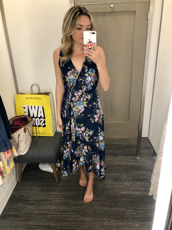 Nordstrom Anniversary Sale Dress Round-Up: Navy Floral Wrap Dress