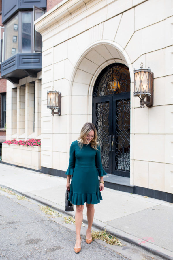 Chicago lifestyle blogger Jessica Sturdy styling a work outfit.