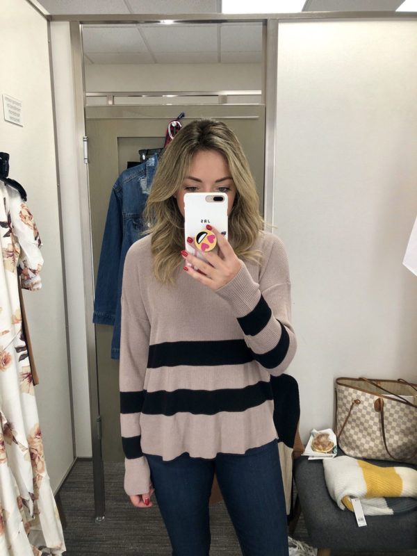 Nordstrom Anniversary Sale striped ribbed sweater flowy