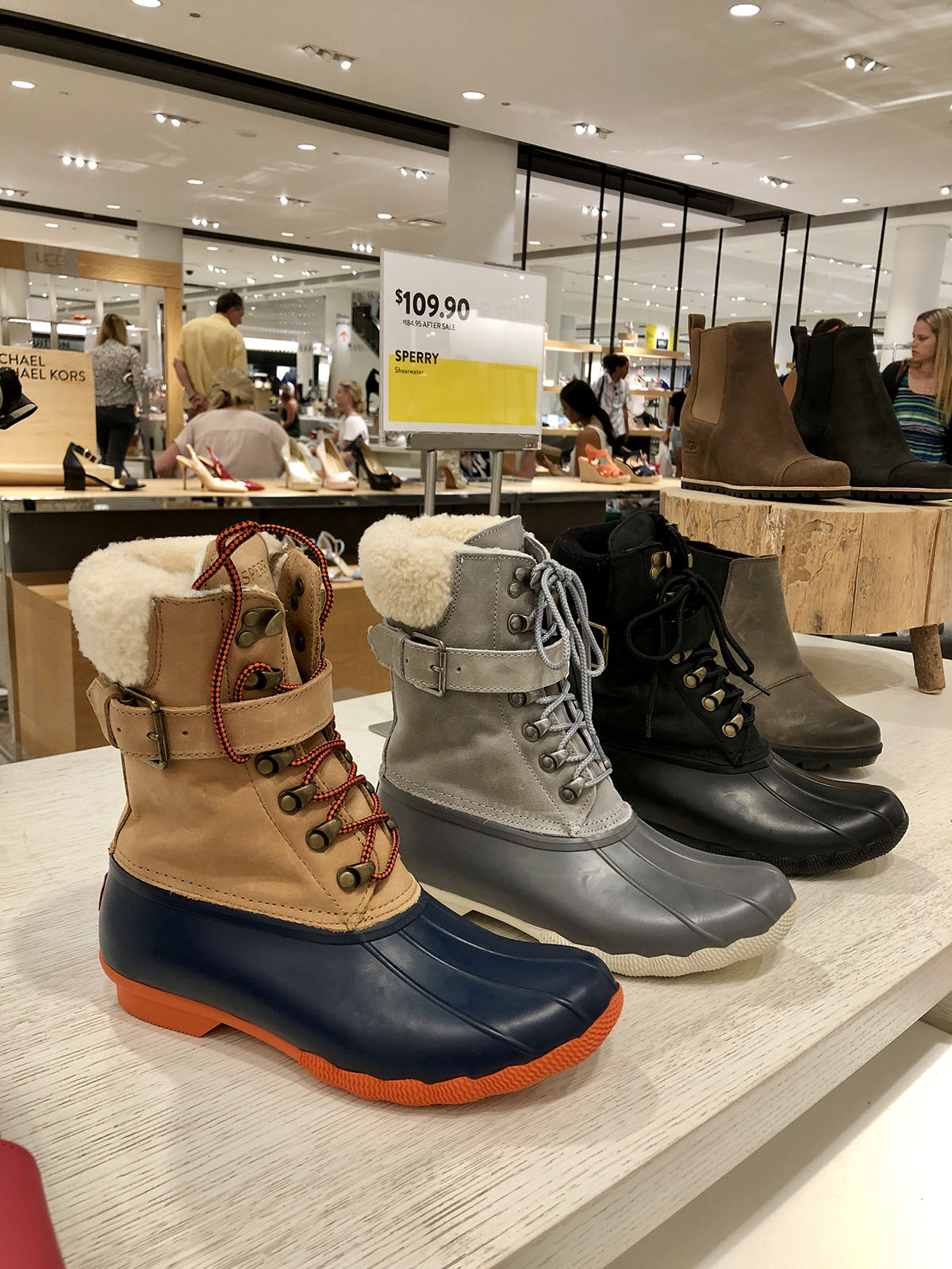 nordstrom sale sperry boots — bows