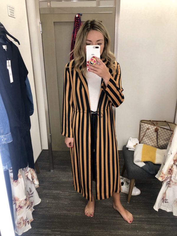Nordstrom Anniversary Sale Topshop Striped Duster