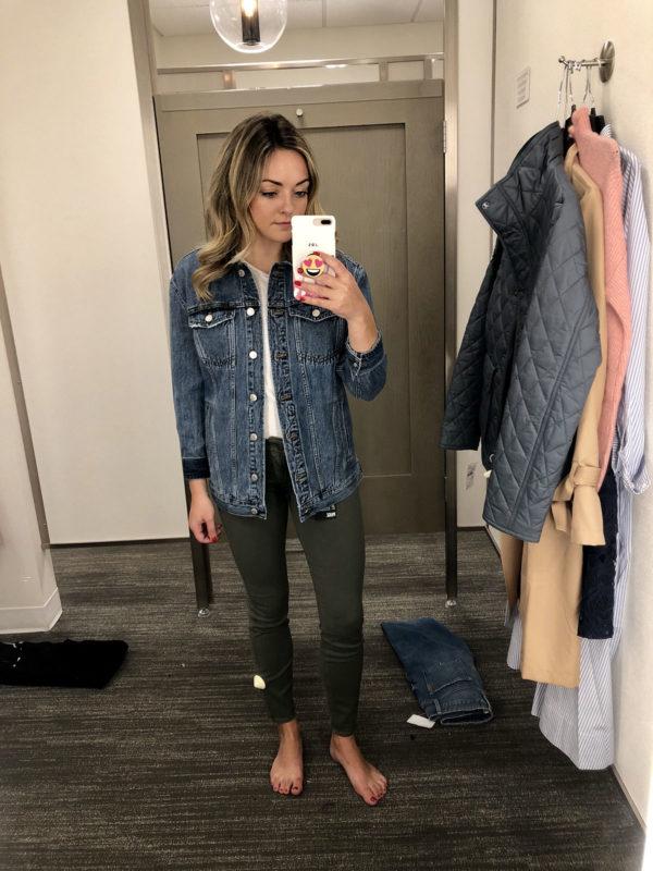 Nordstrom Anniversary Sale Favorite Finds Madewell Jacket Olive Green Skinny Jeans