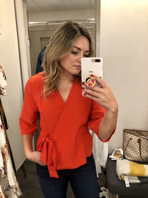 Nordstrom Anniversary Topshop Wrap Blouse