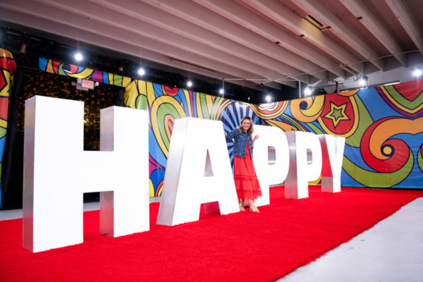 Fashion and travel blogger Jessica Sturdy at Happy Place in Chicago