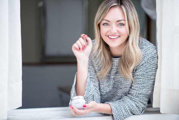 Women's fashion and beauty influencer Jessica Sturdy of Bows & Sequins sharing her favorite skincare products.