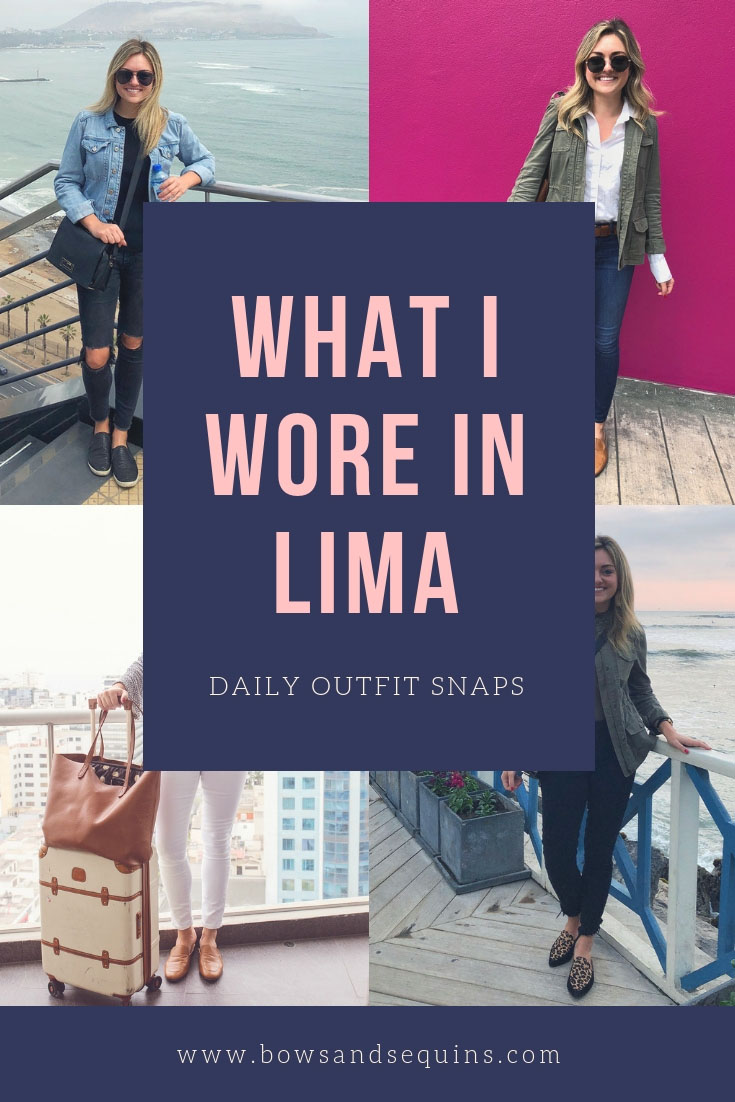Remote year lifestyle blogger Jessica Sturdy of Bows & Sequins shares almost every outfit she wore in Lima, Peru in September of 2018 on the 4-month Kahlo program.