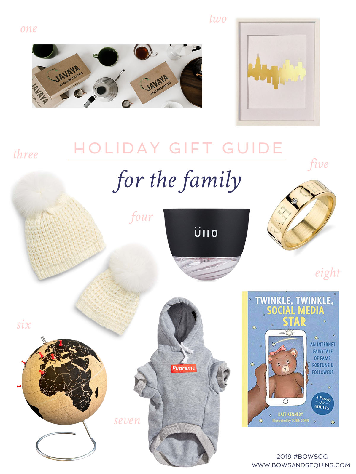 Bows & Sequins Gift Guide for the Whole Family -- Great gifts that the entire family will enjoy.