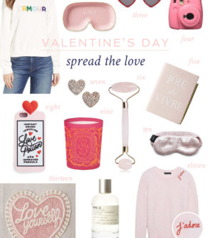 Bows & Sequins shares her favorite gifts for Valentine's Day and Galentine's Day. Heart-shaped earrings, rose-scented candles, the cutest heart bath mat, heart-shaped sunglasses, and more.