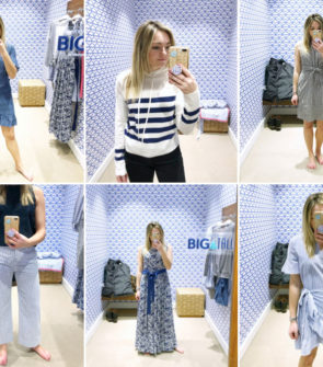 Chicago fashion blogger Bows & Sequins doing a dressing room try-on at Vineyard Vines in the Gold Coast. So many great spring pieces!