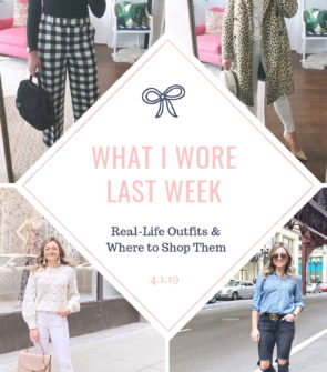 Chicago fashion blogger Bows & Sequins shares her daily outfits from the week.