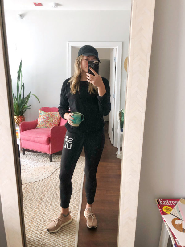 Soul Cycle Leggings + Adidas Ultra Boost