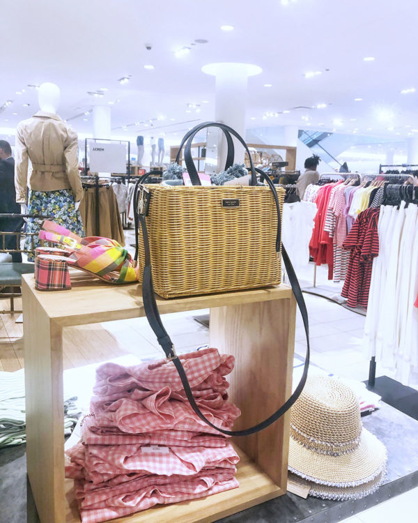 Kate Spade Square Wicker Rattan Bag at Nordstrom