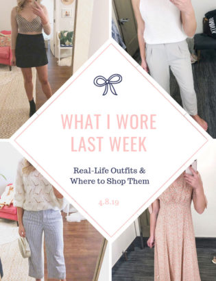 Bows & Sequins weekly outfit recap post