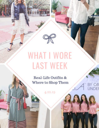 Fashion and lifestyle blogger Jessica Sturdy of Bows & Sequins shares her daily outfits over the last week.