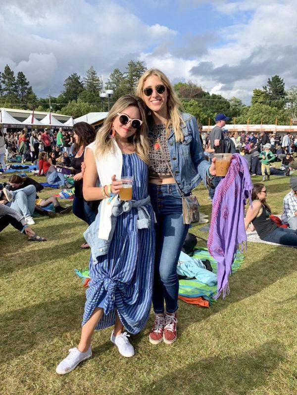 Fashion blogger Jessica Sturdy at BottleRock Music Festival in Napa, California