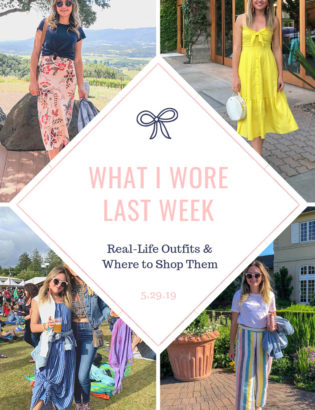 Fashion blogger Bows & Sequins shares the outfits that she wore in Napa Valley and Sonoma County in the spring.