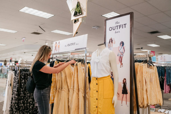 Shopping at Kohl's Outfit Bar