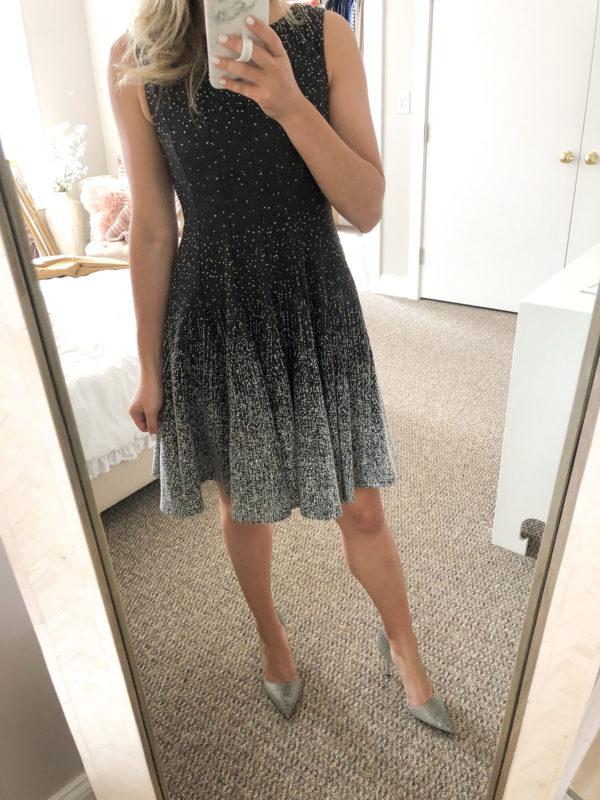 Eliza J Fit & Flare Black & White Dress