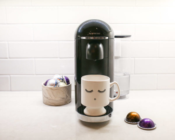 Chicago blogger Bows & Sequins reviews her Nespresso coffee and espresso maker.