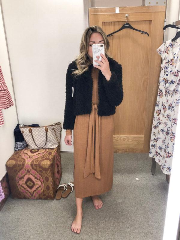 Blank NYC Teddy Coat Midi Dress