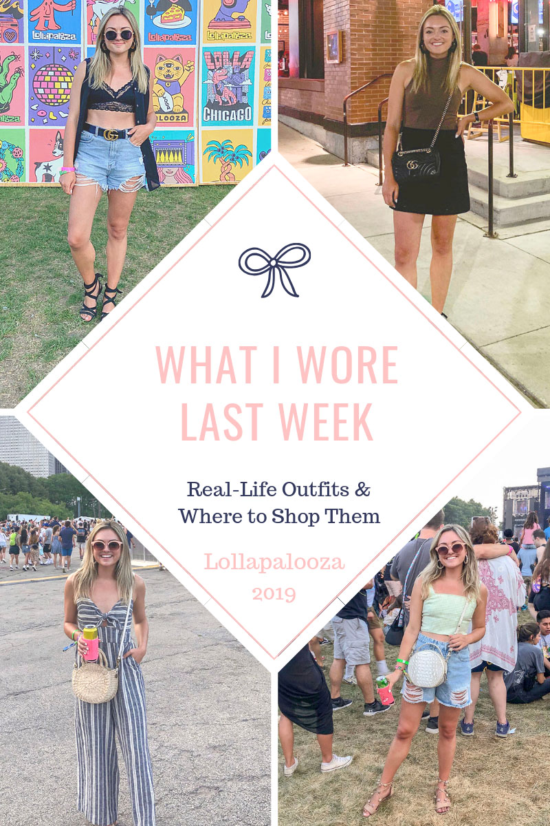 Chicago blogger posts Lollapalooza festival outfits.