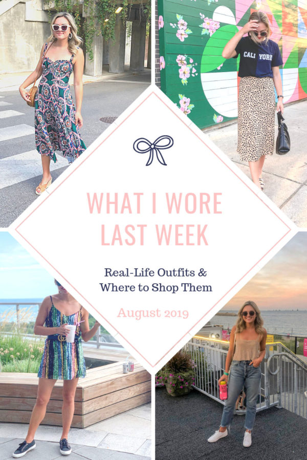Chicago fashion blogger shares a real outfit recap of looks she actually wore around the city.