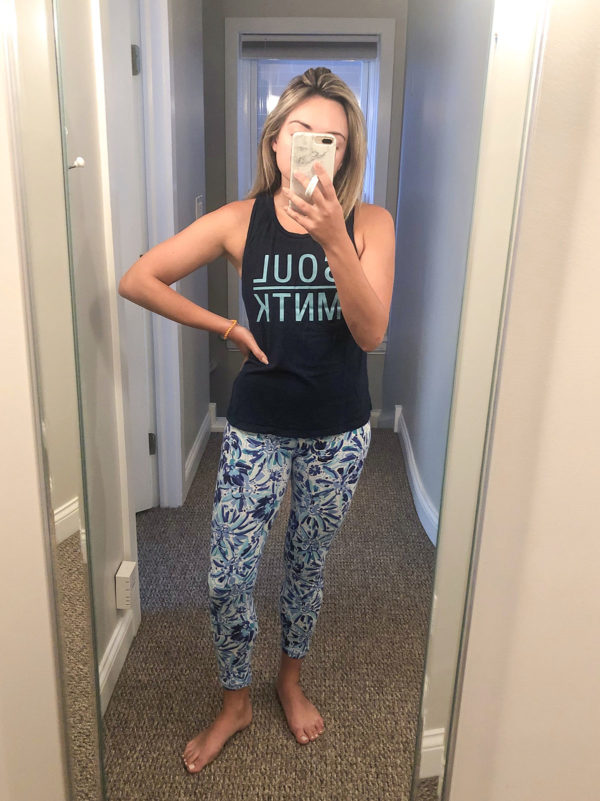 SoulCycle Montauk Tank, Lilly Pulitizer Printed Leggings