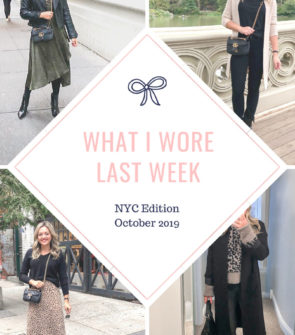 Fashion and travel influencer Bows & Sequins shares daily outfits of what she wore in New York City in October in the fall.