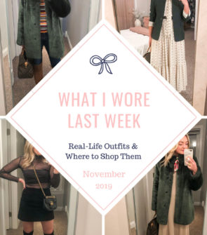 Chicago fashion blogger Bows & Sequins shares daily outfits in Chicago in November.