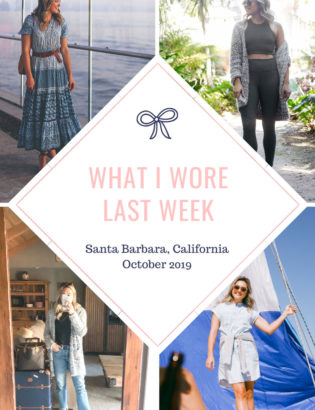 Fashion blogger shares what outfits she wore in Santa Barbara, California