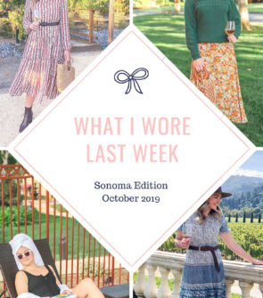 Fashion and travel blogger Bows & Sequins shares the outfits that she wore in Santa Rosa in Sonoma County in the fall.