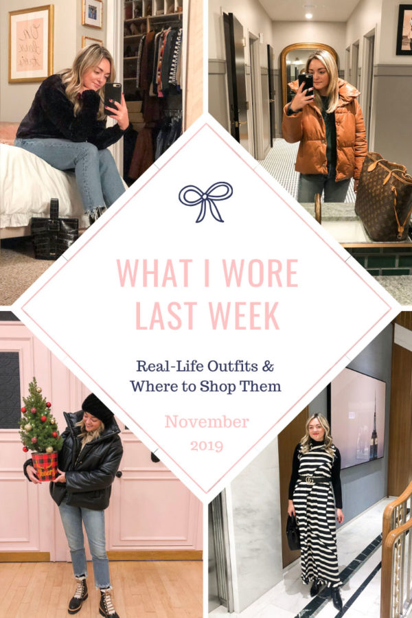 Fashion blogger Bows & Sequins shares daily outfits for what to wear in the winter in Chicago!