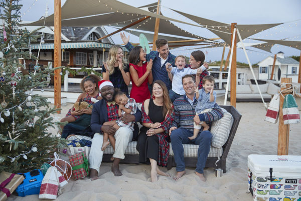 Vineyard Vines Holiday Catalog 2019 on the beach at Ocean House in Watch Hill, Rhode Island.