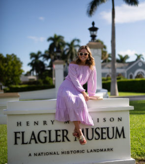 Jessica Sturdy at the Flagler Museum Wearing a Lilly Pulitzer Dress.