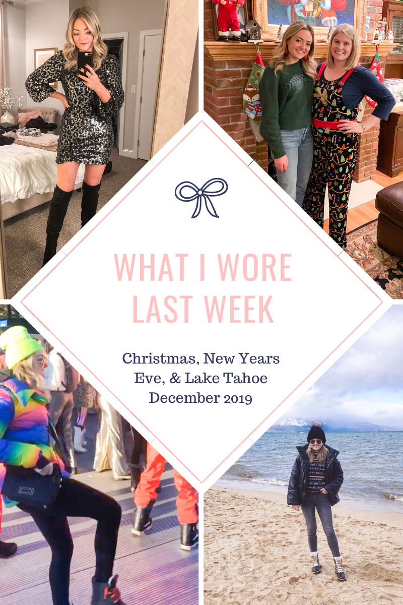 What I Wore on Christmas Eve, Out to Tao in Chicago, New Years Eve Sequin Mini Dress, Snowglobe Music Festival in Lake Tahoe
