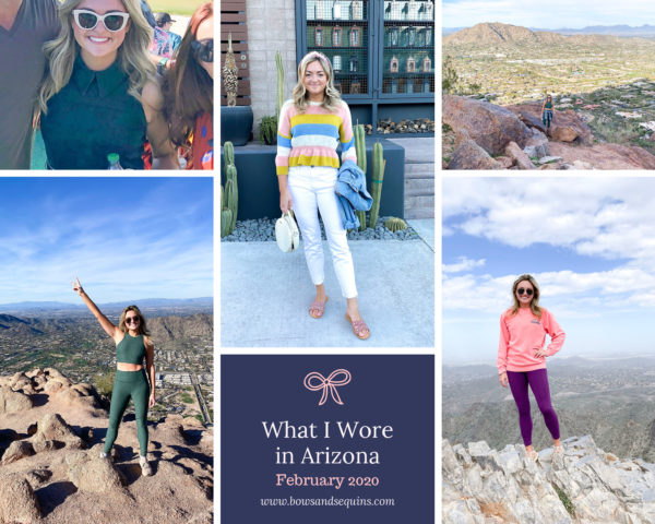 Travel blogger Bows & Sequins outfits from Scottsdale and Phoenix, Arizona.