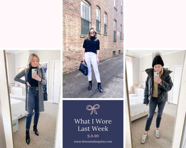 Chicago blogger shares daily outfits in February.