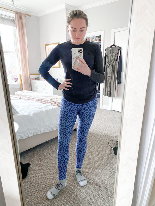 Calia Long Sleeve Tee, Calia Leopard Workout Leggings