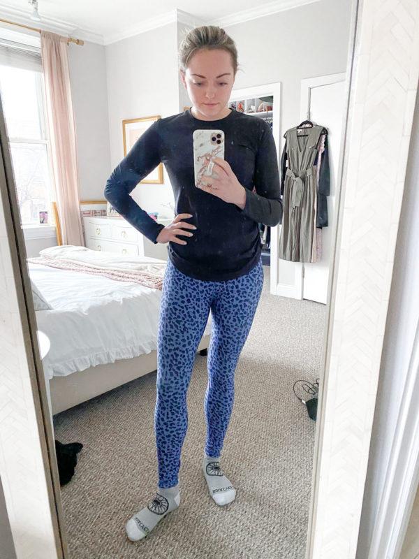 Calia Long Sleeve Tee, Calia Leopard Workout Leggings