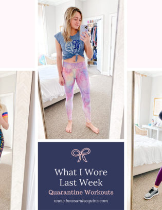 quarantine workouts at home workout outfits printed leggings