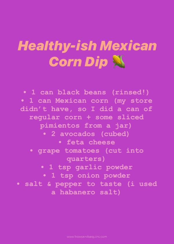 Corn and Black Bean Dip with Feta Easy Dip Recipe