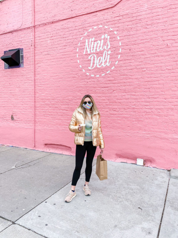 Nini's Deli West Town Chicago, Rose Gold Puffer Coat