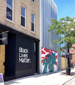 Black Lives Matter Mural in Chicago on Damen