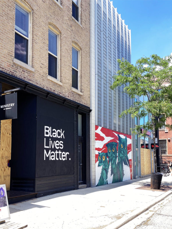 Black Lives Matter Mural in Chicago on Damen
