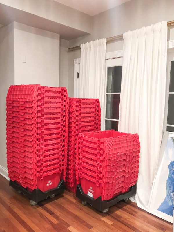 Redibox Red Plastic Reusable Movings Bins, MakeSpace Storage Promo Code